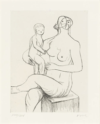 Seated Mother and Child (Crame