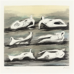 Six Reclining Figures with Blu