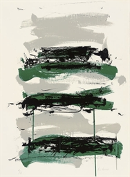 Composition in Black and Green