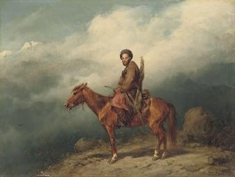 A Caucasian rider