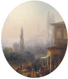 A market scene in Constantinop