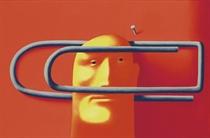 Head in paper clip