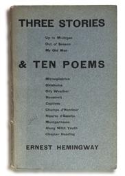 HEMINGWAY, Ernest (1899-1961).