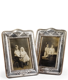 A PAIR OF SILVER-MOUNTED PHOTO