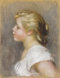 Jeune fille de profil