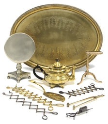 ASSORTED BRASS AND STEEL DOMES