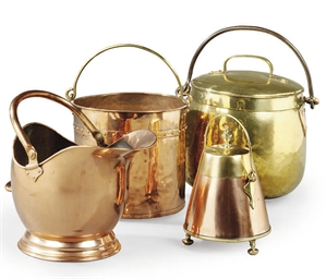 FOUR COPPER OR BRASS DOMESTIC