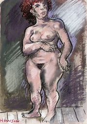Standing female nude; and Fema