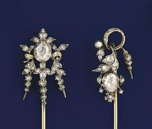 Two diamond stickpins