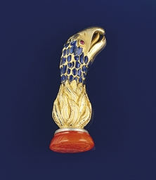 A 19th century gold, enamel an