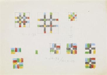 Farbstift-Studien, 1977