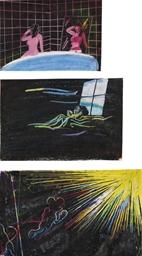 Sammelnummer von 3 Zeichnungen