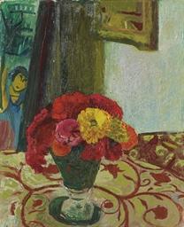 Vase mit Zinnien, 1944