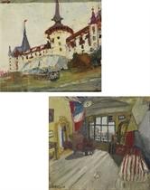 Grand Hotel Dolder in Zürich  Atelierinterieur, um 1940