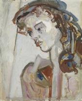 Portrait Maria Gubler, um 1950
