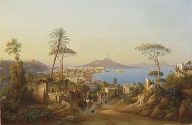 Neapel mit Vesuv, 1875