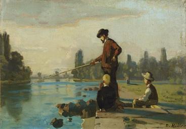 Der Angler, um 1879