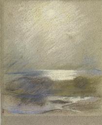 Lago con nebbia, um 1912