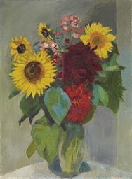 Stillleben mit Sonnenblumen un