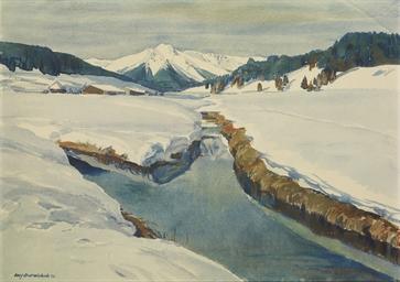 Blick ins Engadin, 1913