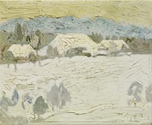 Winter auf der Oschwand, 1942