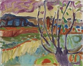 Landschaft mit Weidenstrunk (U