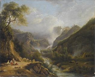 Veduta della cascata delle Mar