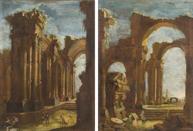 Ruines antiques animées de per