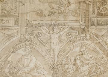 Etude de plafond d'une chapell