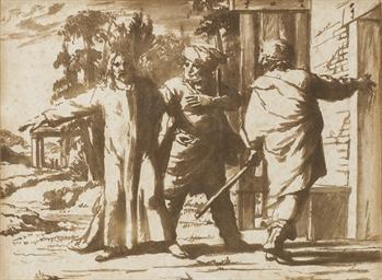 Le Christ et deux disciples à