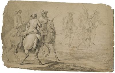 Cavaliers à cheval