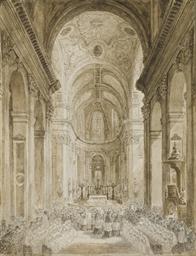 Deux intérieurs d'église, Sain