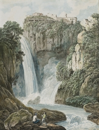 Vue des cascades de Tivoli à R