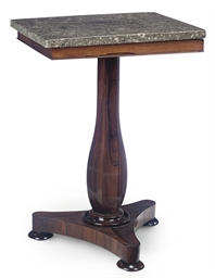A VICTORIAN ROSEWOOD AND FOSSI