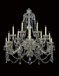 A REGENCY CUT GLASS CHANDELIER