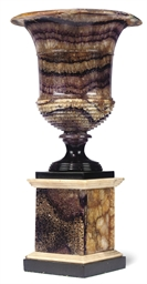 A LARGE REGENCY BLUE JOHN URN