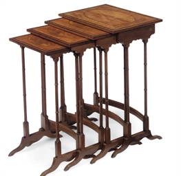 A SET OF VICTORIAN SATINWOOD A