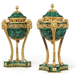 A PAIR OF GILT-BRONZE BRULE PA