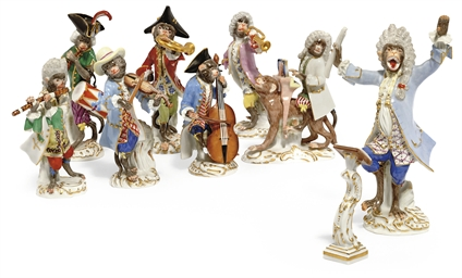 A MEISSEN MONKEY-BAND