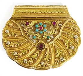 A FRENCH THREE-COLOUR GOLD AND