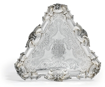 A GEORGE II SILVER KETTLE-STAND