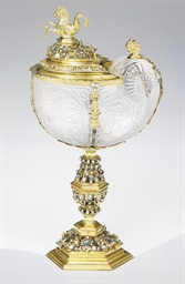 AN AUSTRIAN SILVER-GILT MOUNTE
