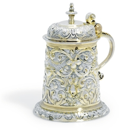 A GERMAN PARCEL-GILT SILVER LA