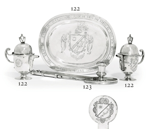 A SPANISH SILVER CHAMBER-CANDL