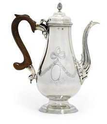 A PORTUGUESE SILVER COFFEE-POT