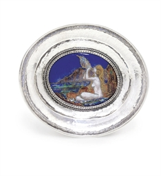 A GEORGE V SILVER AND ENAMEL D