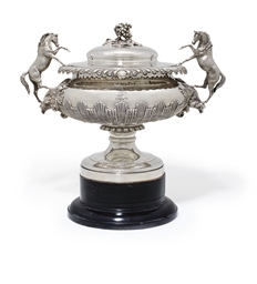 A WILLIAM IV SILVER CUP AND CO