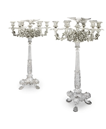 A PAIR OF WILLIAM IV SILVER SI