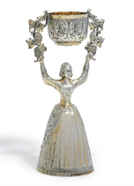 A GEORGE IV SILVER-GILT WAGER CUP