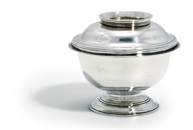 A GEORGE II SILVER SUGAR-BOWL
